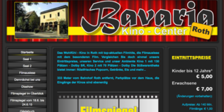 Screenshot Homepage Kino Bavaria